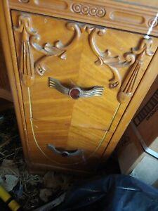 4 art deco vanity drawer pulls hardware bakelite ruby 1920s decor