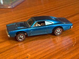 Redline Hot Wheel BLUE Custom Charger, Near Mint, No Toning GREAT 100% ORIGINAL