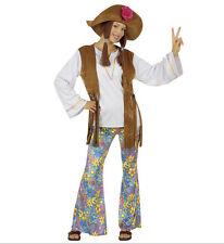Partyhose disco hippie patte d/'eph Pour Pantalon Femmes Avec Coup Flower Power Peace L