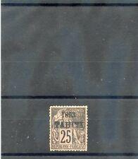 TAHITI Sc 25(YT 27)*VF OG 1893 25c BLACK/ROSE $125