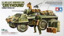 Tamiya 25196 US M8 Light Armored Car 'Greyhound' Combat Patrol Set 1/35