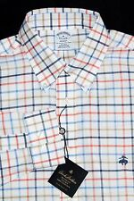 Brooks Brothers REGENT FIT Men's Button Down Shirt Multi color Check w Logo NWT