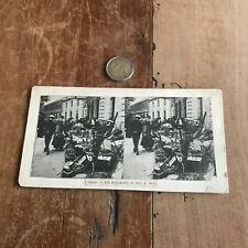 photo ancienne stéréo N150 paris les marchands de bric a brac