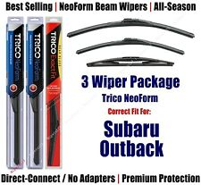3-Pack Wipers Front & Rear NeoForm fit 2010-2014 Subaru Outback - 16260/190/14B