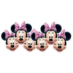 Liquidación Disney Minnie Mouse Fiesta Máscaras X 6