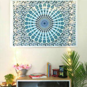 MANDALA 45 X 30 INCH HOME DECOR 100% COTTON WALL HANGING FLORAL DECOR POSTER