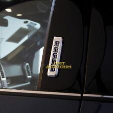 Keypad Entry on Pillar Post Triple Chrome Trim Cover Kit for 15-17 Ford F150