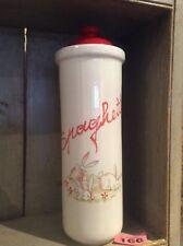 Spaghetti Kitchen Storage Container Jar Red & White Ceramic Pottery Rabbits 🐇