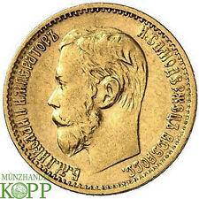 R638) RUSSLAND 5 Rubel 1898 АГ - Nikolaus II. 1894-1917 - Gold