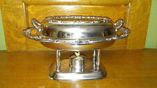 English Silver Mfg Corp Chafing Dish Food Warmer Glass Insert  w/ lid & burner