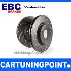 EBC Bremsscheiben VA Turbo Groove für Nissan Almera 2 N16 GD969