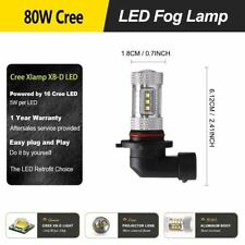 2Pcs Car Parts 80W 9006 HB4 Led Fog Lights Lamps 16SMD Non-polarity Super White