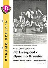 EC 1972/73 Dynamo Dresden - FC Liverpool