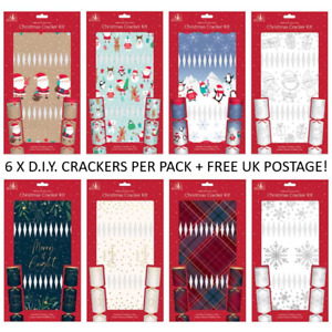Make Your Own Christmas Cracker Kit DIY Craft Personalised Festive Present Gifts