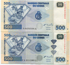 Congo 500 francs 2002 with and without brilliants, UNC, rare