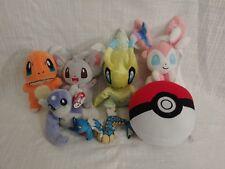 Lot of 7 Pokemon Plush Toys