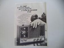 advertising Pubblicità 1968 CLOCK RADIO CGE