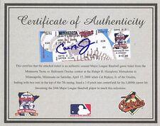 Cal Ripken Jr. Signed 3000 Hit Ticket W/COA Orioles