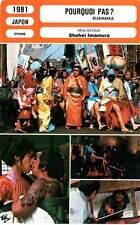FICHE CINEMA : POURQUOI PAS - Momoi,Izumiya,Imamura 1981 Eijanaika/Why Not !