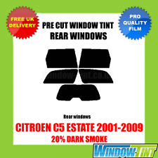 CITROEN C5 ESTATE 2001-2009 20% DARK REAR PRE CUT WINDOW TINT