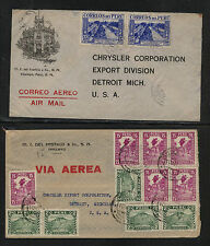 Peru   2  nice airmail covers  to   US           MS0613