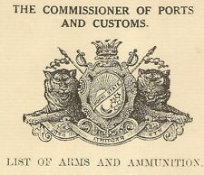 India Morvi State 1937 Navlakhi Port SS BANKURA Arms List signed Captain