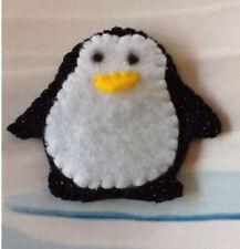 Penguin Finger Puppet. Handmade In UK. Felt