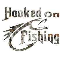 camo forest camouflage hooked on fishing sticker cool skillet New 2016 decals