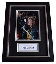 Rod Stewart Signed A4 FRAMED Autograph Photo Display Music Memorabilia AFTAL COA