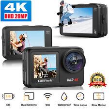 Campark 4K/30fps Action Camera 20MP WiFi Waterproof EIS Video Vlog Cam as GoPro