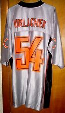 Chicago Bears Brian Urlacher NFL Apparel Team Jersey Size L  Silver/Orange/Black