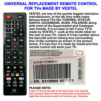 VESTEL UNIVERSAL TV REMOTE CONTROL FOR MANY WELL KNOWN BRANDS READ ADVERT PLEASE