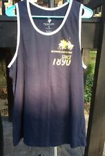 US Polo Assn #3 Mens  Blue Tank Top Shirt Sleeveless-Size XL-cotton