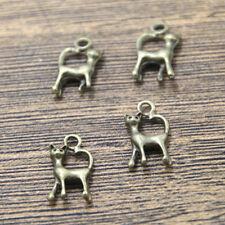 20pcs cat Charms bronze tone cat charm pendant 10x18mm