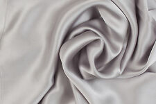 1 Luxury Pure Charmeuse SILK Pillowcase Housewife (Silver Grey)