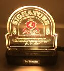 1981 STROH'S SIGNATURE BEER 11¼ inch edge-lit back-bar sign Tavern Trove