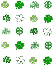 St Patty's (Patrick's) Day Shamrocks / 4 Leaf Clovers Waterslide Nail Decals/art