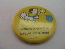 Vintage 1986 Turnir Kadetov Celje 27.4 Aero Pin Button