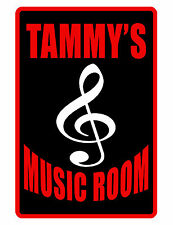 PERSONALIZED MUSIC ROOM SIGN DURABLE ALUMINUM NO RUST FULL COLOR SIGN MSR DD#453