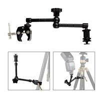 "Articulating Magic Arm 11"" Super Crab Clamp Plier Clip DSLR Camera LCD Monitor"
