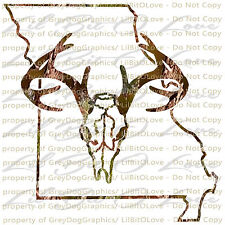 Camouflage Camo Missouri Buck Hunter Hunting Vinyl Decal Sticker Deer Skull Stag