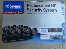 Swann 8 Channel 1080p TVI DVR Security System with 8 1080p Cameras, 2TB Hard Dr.