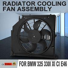 Radiatore Condensatore Ventola Per BMW Serie 3 E46 328i 615343301075 Nuovo