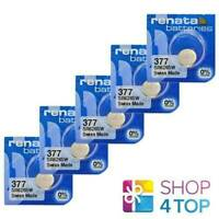 5 RENATA 377 SR626SW BATTERIES SILVER 1.55V WATCH SWISS MADE EXP 2022 NEW