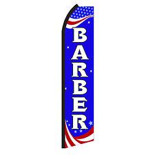 Barber Banner Flag Sign Only Advertising Flutter Feather Sign Swooper
