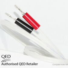 2 x 1m QED Silver Anniversary XT Speaker Cable SILVER 4mm Banana Plugs Fitted