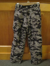 Kids Boys Girls LL BEAN Thinsulate Insulated Snow Ski Pants 12 Black Gray Print