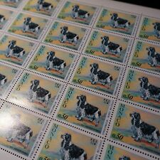 FEUILLE SHEET MONACO N°862 x30 EXPOSITION CANINE CHIENS NEUF ** MNH COTE 105€