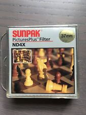 Sunpak Pictures Plus Filter ND4X Neutral Density size 37MM New in Case