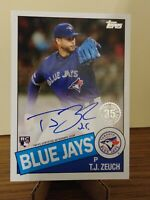 2020 Topps 1985 autograph ROOKIE card RC #85A-TJZ - T.J. Zeuch Blue Jays